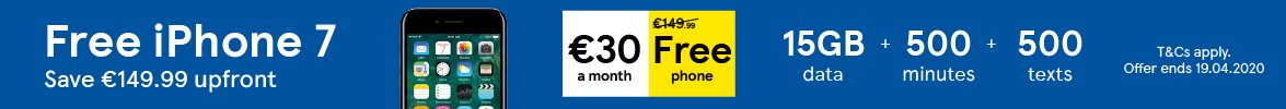Free iPhone 7 Save €149.99