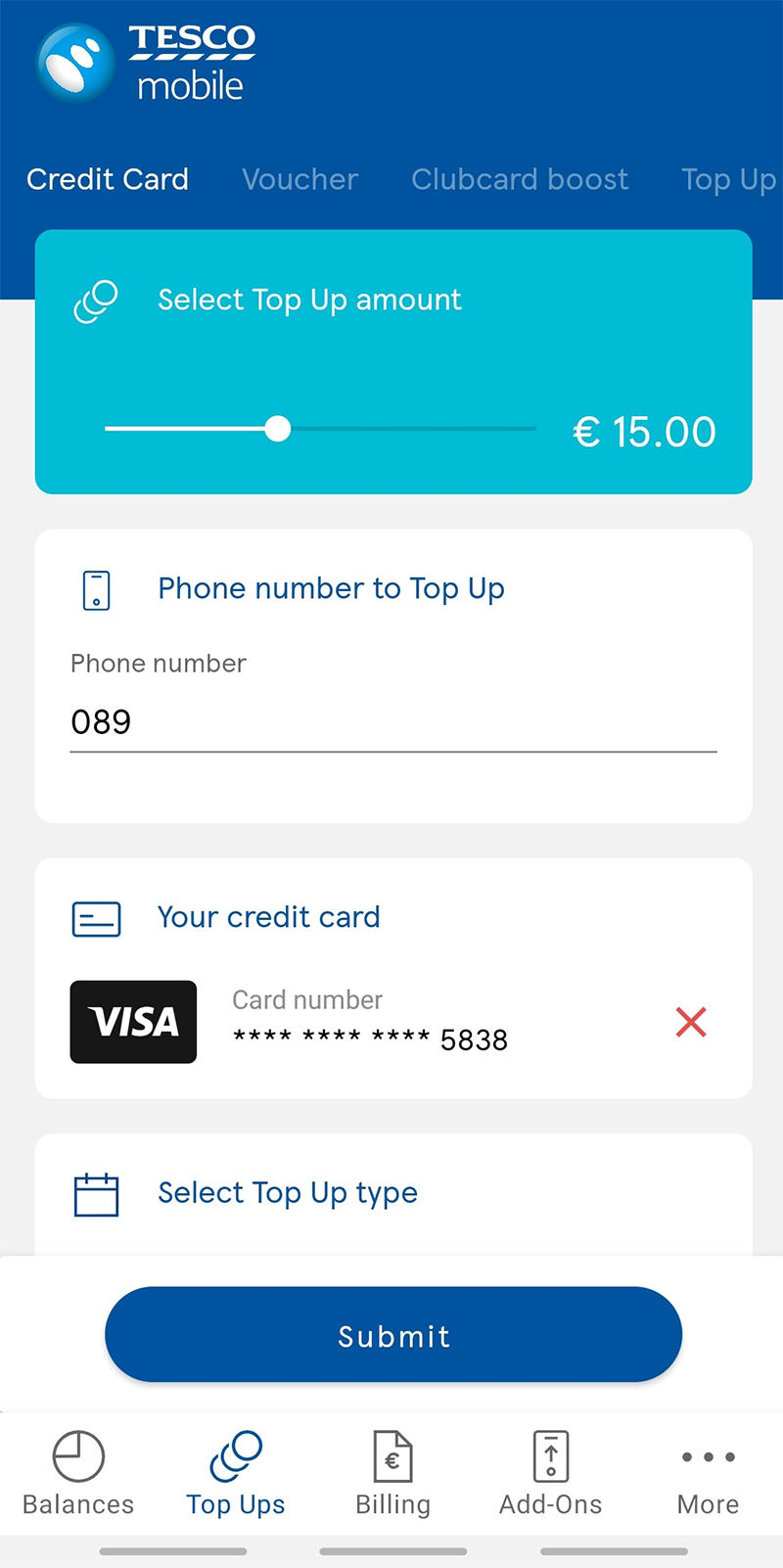 How to top up | Tesco Mobile